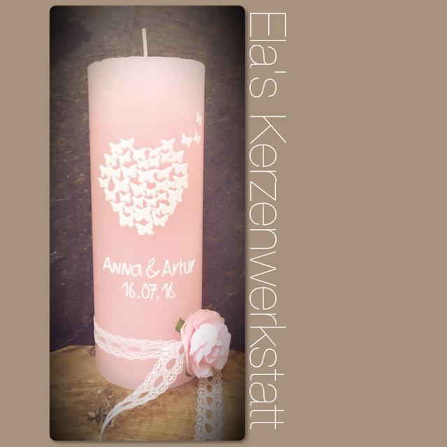 Elas Kerzenwerkstatt Individuelle Hochzeitskerzen Nach Wunsch