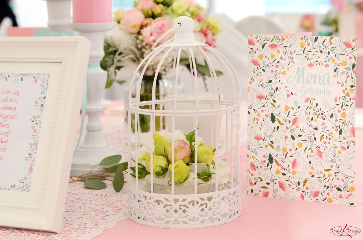 Tischdeko in rosa von Deko & Design Weinsberg