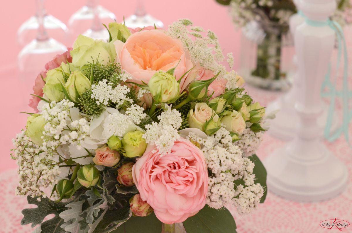 Tischstrauß in rosa von Deko & Design Weinsberg