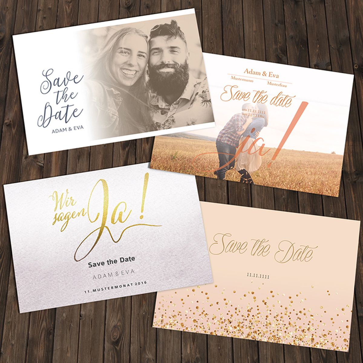 Hochzeitseinladungen Kalligraphie hand lettering